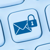 Sending encrypted E-Mail protection secure mail internet online Royalty Free Stock Image