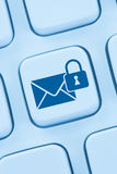 Sending encrypted E-Mail protection secure mail internet online. Web Stock Photos