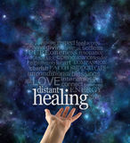 Sending Healing Across Time and Space Royalty Free Stock Image