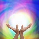 Sending healing energy out Royalty Free Stock Photos