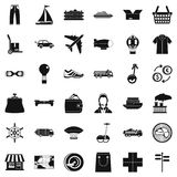 Sending icons set, simple style. Sending icons set. Simple style of 36 sending vector icons for web isolated on white background Royalty Free Stock Photos