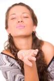 Sending a kiss Royalty Free Stock Image