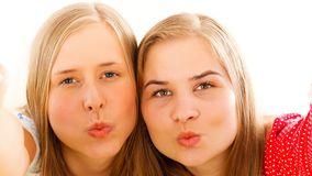 Sending a Kiss Selfie Stock Photo