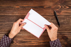 Sending a letter Stock Photography