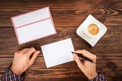 Sending a letter Stock Images
