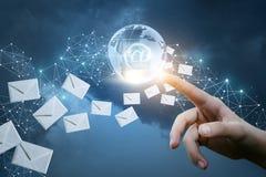 Sending letters on the Internet . Stock Photo