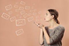 Sending letters Stock Photo