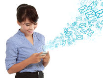 Sending message Stock Photography