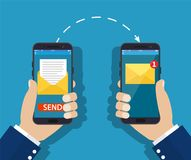 Sending message process concept. Royalty Free Stock Photography
