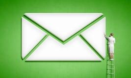 Sending message Stock Image