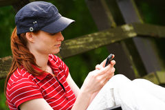 Sending Messages from the Mobile Royalty Free Stock Image