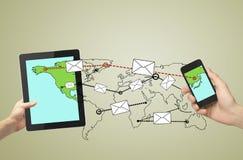 Sending messages Stock Photos
