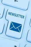 Sending newsletter internet business marketing campaign online b Stock Photography