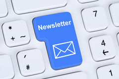 Free Sending Newsletter On Internet For Business Marketing Campaign Stock Photos - 52684983