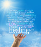 Sending out beautiful healing intention Royalty Free Stock Image