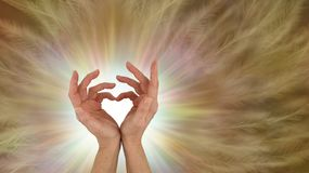 Sending out unconditional love healing vibes royalty free stock image