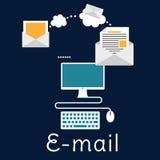 Sending and receiving e-mail concept Stock Photos