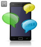 Sending and Receiving SMS Messages Royalty Free Stock Photography