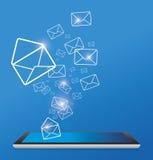 Sending SMS. Design for design work Stock Photos