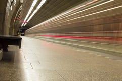Sending subway train Royalty Free Stock Photo