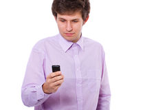 Sending text message Stock Image