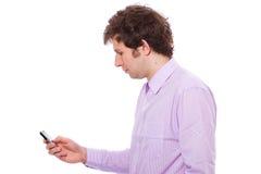 Sending text message Royalty Free Stock Photos