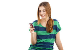 Sending text message Stock Photography