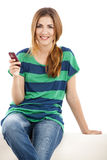 Sending text message Royalty Free Stock Photo