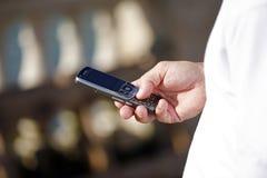 Sending text message Stock Photos