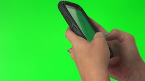 Sending text message stock footage