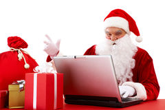 Sending xmas e-mail Royalty Free Stock Photos
