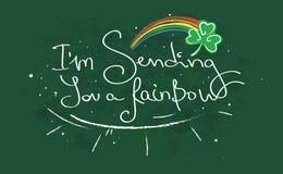 Sending you a rainbow stock illustration