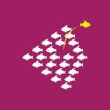 Sendo diferente, tomada arriscada, movimento ousado para o sucesso na vida - C ilustração royalty free
