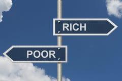 Sendo Rich Versus Poor foto de stock royalty free