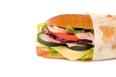 Sendwich isolated on white Stock Photo