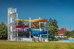 Senec - Sun Lakes - waterslide Royalty Free Stock Photos