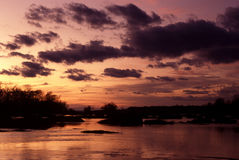 Seneca Breaks. Photo of Seneca Breaks at sunset on the Potomac River in Maryland. This is a popular recreational area for canoeing, kayaking, cycling and fishing stock image