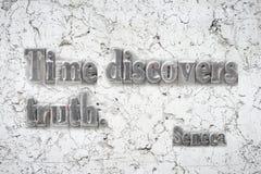Seneca da verdade do tempo fotos de stock