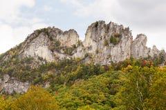 Seneca Rocks em West Virginia Fotos de Stock