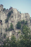 Seneca Rocks i West Virginia arkivfoto