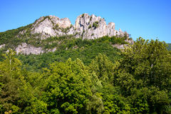 Seneca Rocks. Mountain Range Appalachian Royalty Free Stock Photo