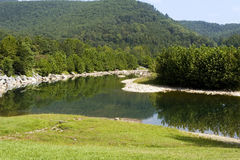 Seneca Rocks Mountain River Stock Image