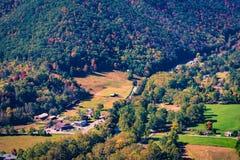 Seneca Rocks Township från över Royaltyfria Bilder