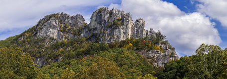 Seneca Rocks in Virginia Occidentale Immagine Stock Libera da Diritti