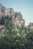 Seneca Rocks in Virginia Occidentale Immagini Stock Libere da Diritti