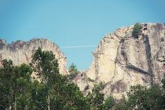 Seneca Rocks in Virginia Occidentale fotografia stock libera da diritti