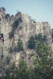 Seneca Rocks in Virginia Occidentale Fotografia Stock