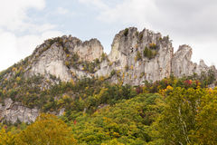 Seneca Rocks in West-Virginia Stock Foto's