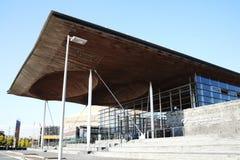 Senedd (edificio) de la asamblea nacional Cardiff foto de archivo libre de regalías