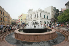 Senedo fyrkant i Macao Arkivbilder